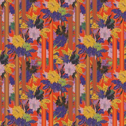 Floral Stripe Handbag