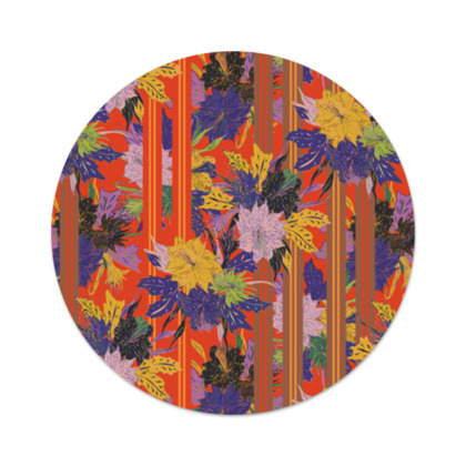 Floral Stripe Serving Platter