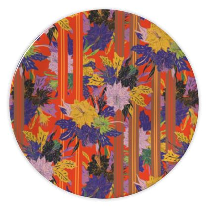 Floral Stripe China Plate