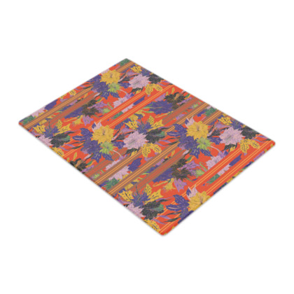 Floral Stripe Glass Chopping Board