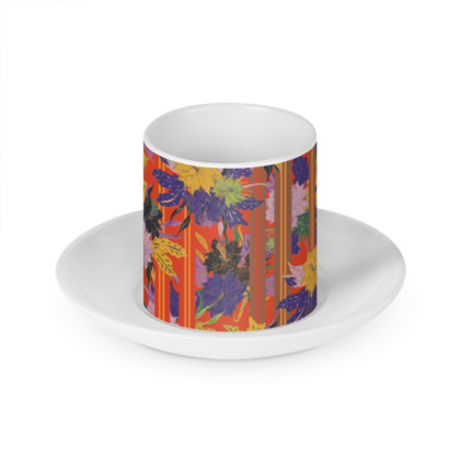 Floral Stripe Cup