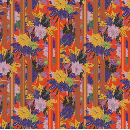 Floral Stripe Fabric Placemat