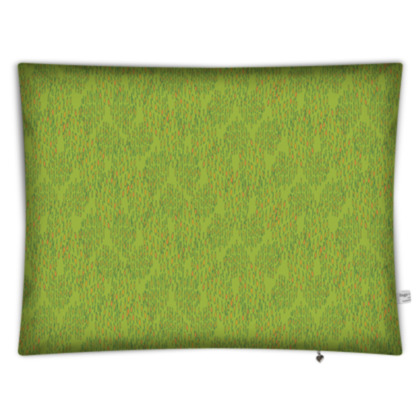 Lime Green Textural Dot Rectangular Floor Cushion