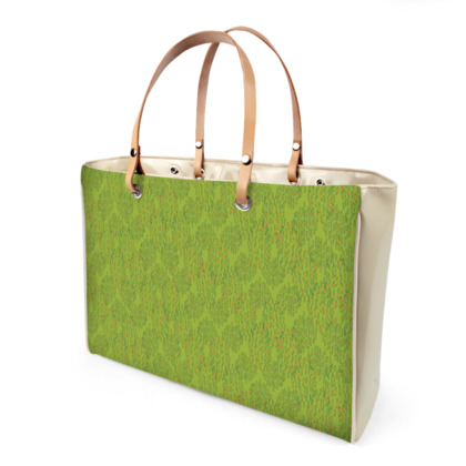 Lime Green Textural Dot Handbag