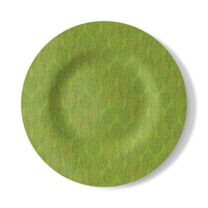 Lime Green Textural Dot Decorative Plate