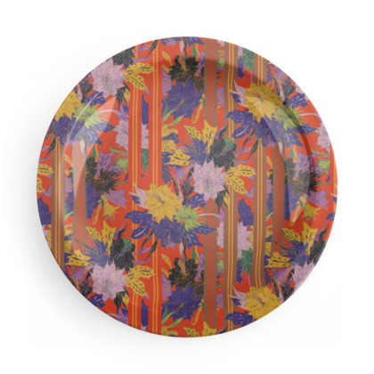 Lime and Floral Tropical Party Plate Set
