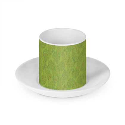 Lime Green Textural Dot Cup