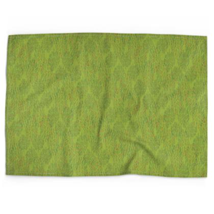 Lime Green Textural Dot Tea Towel
