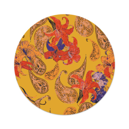 Paisleys and Lilies Serving Platter