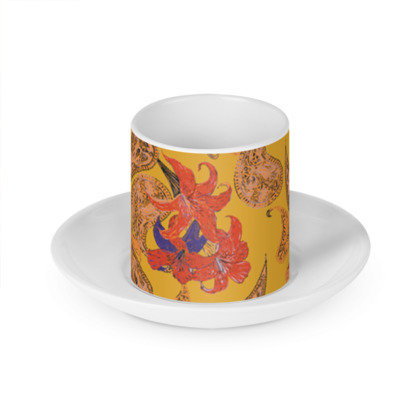 Paisleys and Lilies Cup