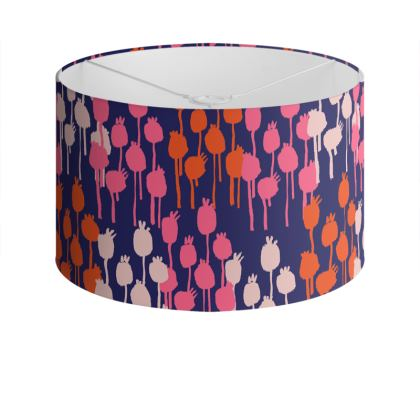 Seed Pods Graphic Print  Drum Lamp Shade