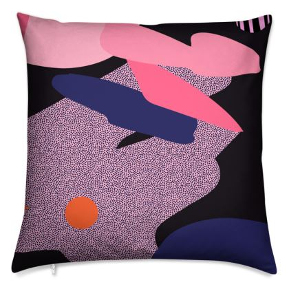 Persnickety Abstract Patterned Cushion