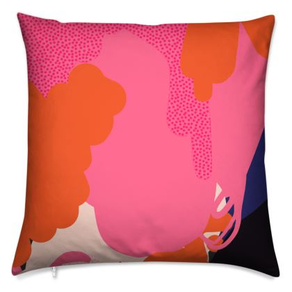 Hey-Day Abstract Patterned Cushion