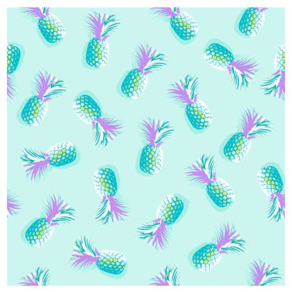 TROPICAL PINEAPPLE PARTY - Espadrilles in Turquoise & Lavender on Aqua