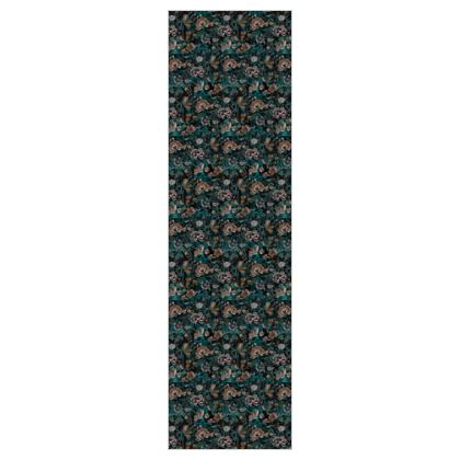 W I L D  - B A R O Q U E  - Teal - 5m Printed Fabric