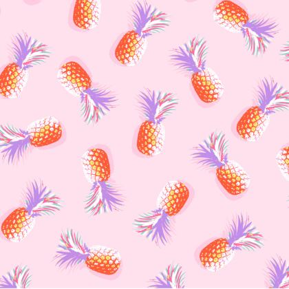 TROPICAL PINEAPPLE PARTY - Espadrilles in Coral & Lavender on Pink