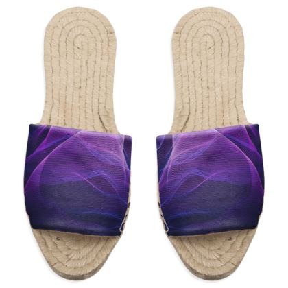 OUT OF THE BLUE  - Sandal Espadrilles in Ultra-Violet and Purple