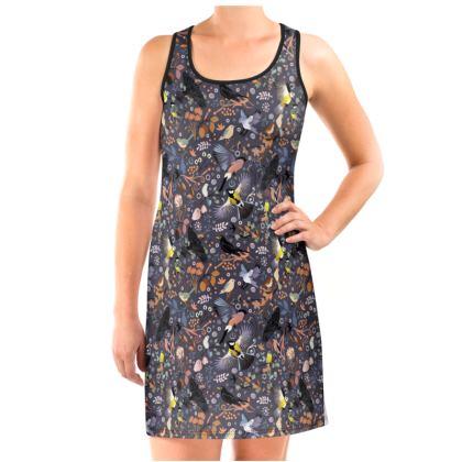 Garden tweet Vest Dress