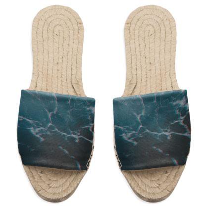 "Sandal Espadrilles ""Marbled Ice"""