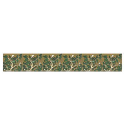'Hornbeam' Wallpaper Border in Green and Brown