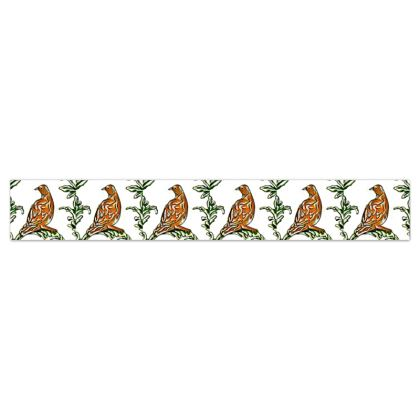 'Partridge' Wallpaper Border in White and Brown