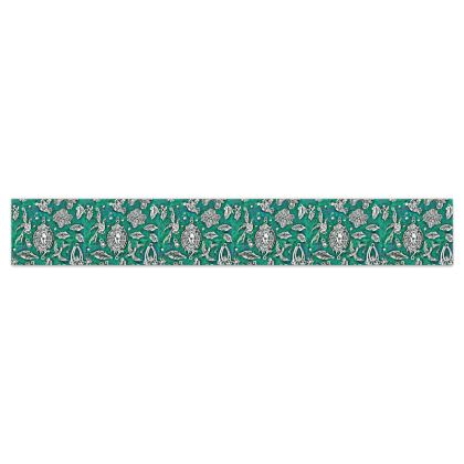 'Fantasia' Wallpaper Border in Green and White