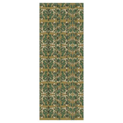 'Hornbeam' Wallpaper in Green and Brown