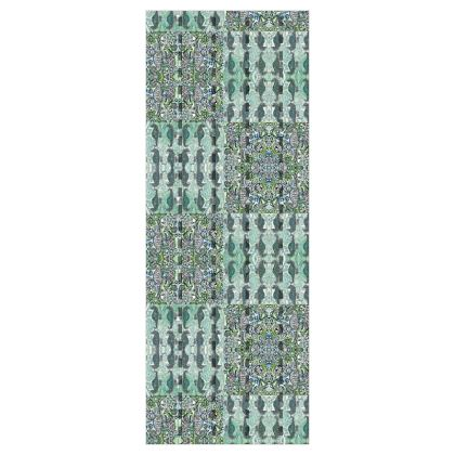 'Seahorse II' Wallpaper in Green and Blue