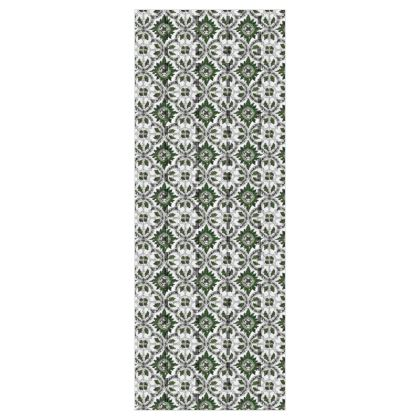 'Majolica' Wallpaper in Green and White