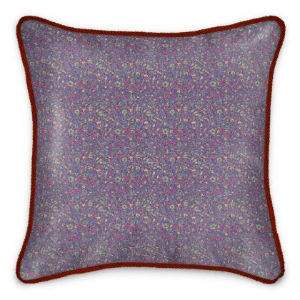 'Gloriana' Silk Cushion in Red