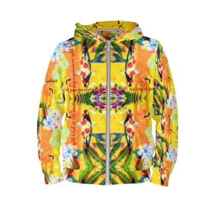 Orchid yellow Koi Hoodie ninibing34 unisex size M #ninibing34 #hoodie
