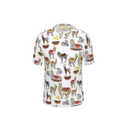 Lama Cut and Sew T Shirt