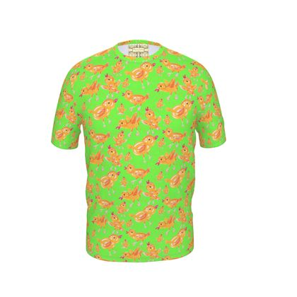 Green Chicks Cut and Sew T Shirt