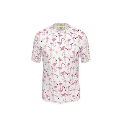 Flamingo Cut and Sew T Shirt