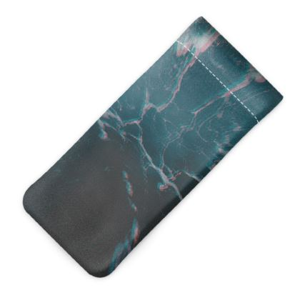 "Glasses Case Pouch ""Marbled Ice"""