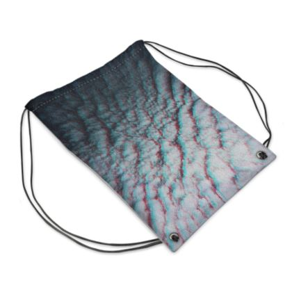 "Drawstring Bag ""Clouds in Aspic"""