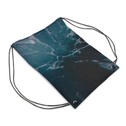 "Drawstring Bag ""Marbled Ice"""