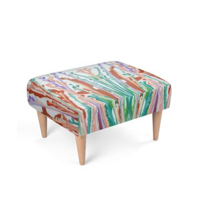 Wildflowers Footstool