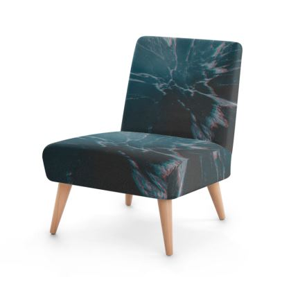 "Occasional Chair ""Marbled Ice"""