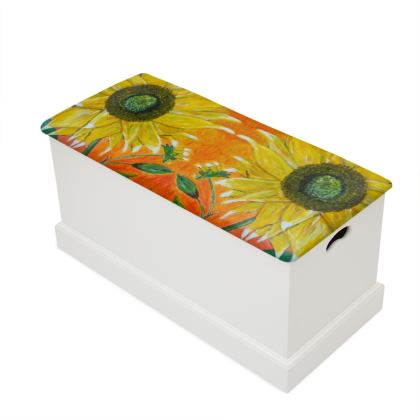 Sunflower Blanket Box