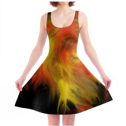 Dancing Fire Skater Dress