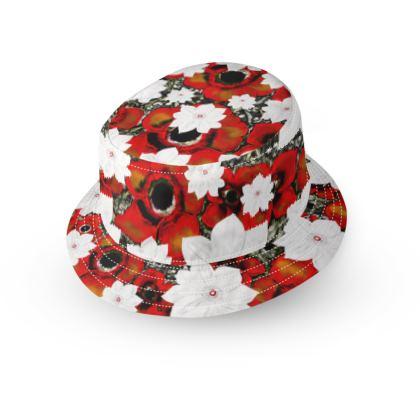 Poppy small brim bucket hat