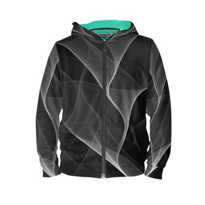 BLACK AND WHITE FLUX - Hoodie