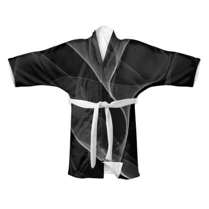 BLACK AND WHITE FLUX - kimono