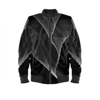 BLACK AND WHITE FLUX - Ladies Bomber Jacket