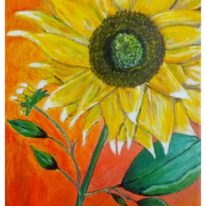 Sunflower Zip Top Handbag