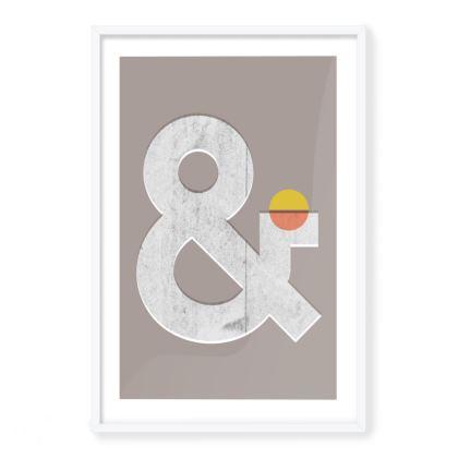'Ampersand' Framed Art Print
