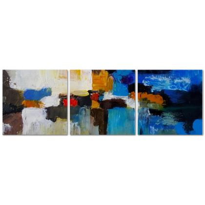 Abstract Triptych Canvas