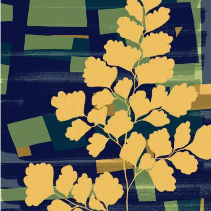 Abstract Fern Espadrilles by Lucinda Kidney
