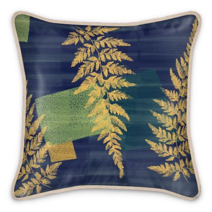 Sophisticated Silk Cushions with abstract fern design by Lucinda Kidney